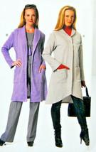 See & Sew Butterick Pattern #B6406 Misses' Sweater Jacket & Coat Uncut V... - $12.50