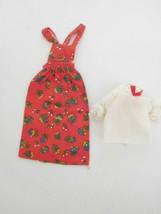 """Vintage 1974 Skipper """"Fancy Frock"""" Best Buy Fashion Red Print Jumper & B... - $16.99"""
