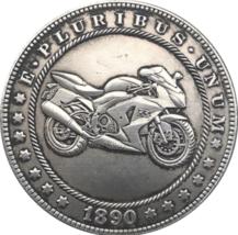 Hobo Nickel 1890 Dollar Crotch Rocket Biker Motorcycle US Motorbike Cast... - $9.49