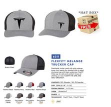 TESLA MOTOR MODEL 3 MODEL S Trucker Cap FLEXFIT HAT *FREE SHIPPING in BOX* - $19.99