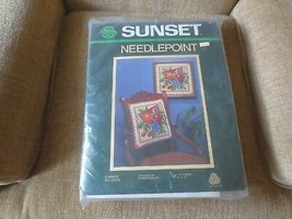 1983 Sunset SUMMER DELIGHTS Needlepoint SEALED Kit #6210 - Barbara Baatz - $24.75