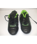 Kids Unisex Black Leather Outdoor Soccer Shoes Athletic Works Alan B size 5 - $11.86