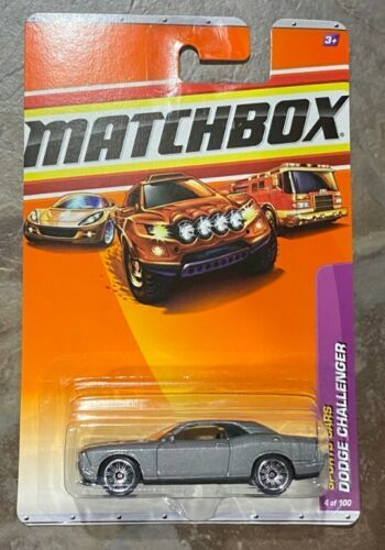 Primary image for Matchbox Sport Cars Series Grey Dodge Challenger Diecast #4 GB