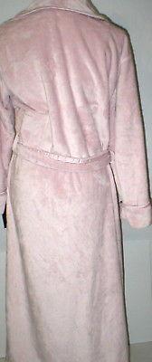 NWT New Natori Pink Faux Fur Robe Womens Long Very Soft Pockets M Dusty Rose Lus image 5