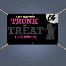 TRUNK OR TREAT Banner, Outdoor Home Halloween Party Decor Vinyl Sign, 3'... - $33.21