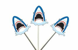 Crafty Cue Shark Cupcake Toppers - 12 Count - $11.99