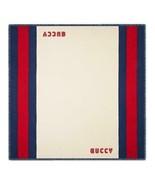 """NIB GUCCI web """"GUCCY"""" silk modal extra large scarf shawl 51"""" x 51""""; Rtl ... - $314.25"""