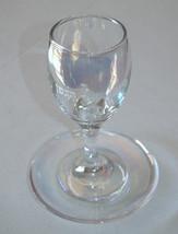 Judaica Kiddush Cup Glass Goblet Saucer Shabbat Clear Multi Color Spark image 7
