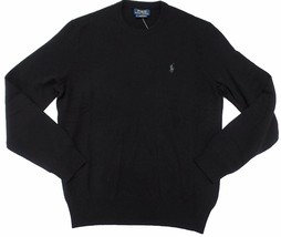 Polo Ralph Lauren Mens Crew-Neck Wool Pony Logo Sweater Black S - $74.90