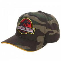 Jurassic Park Camo Adjustable Snapback Hat Green - $26.98