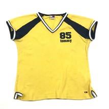 Vintage Tommy Hilfiger Femmes Tricot Taille XL 1X Banane Jaune Universit... - $21.86