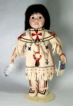 Buffalo Child of The Great Spirit Native American Indian Doll Georgetown... - $35.00