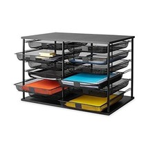 Teacher Desk Organizer Construction Paper Tray Storage Compartments Mesh... - $106.99