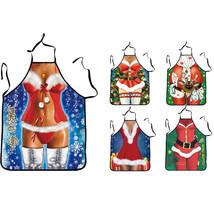 Apron Santa Claus Cruz Christmas Decoration Kitchen Dinner Party Gift Xm... - $9.99