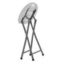 Portable Folding Stool Set of Four White Plastic Lightweight Indoor Outd... - $44.09