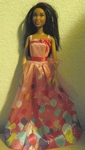Mattel Barbie Birthday African American Doll Pink Balloon Design gown w ... - $15.72
