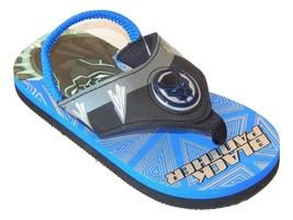 BLACK PANTHER Boys Light-Up Flip Flops Beach Sandals NWT Sz. 9-10, 11-12... - $10.88+