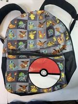 Pokemon Backpack Laptop Bag Pikachu Charmander Squirtle - $35.00