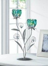 Lot of 8 Peacock Flower Bloom 2 Candle Cups on Iron Stem Tealight Candle... - $149.89
