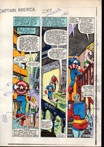 1980's Zeck Captain America 288 original Marvel color guide art page 3: ... - $99.50