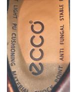 Men's Sz 43 Ecco Brown Leather Oxford Lace Up Comfort Shoes. Excellent P... - $26.68