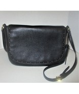 Ralph Lauren black leather Gold stud Detail handbag - $48.00
