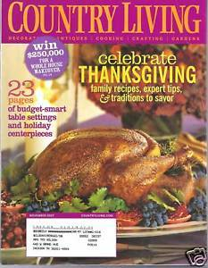 Primary image for Country Living Magazine November 2007
