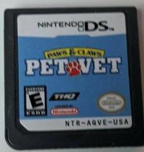 Paws & Claws: Pet Vet (Nintendo DS, 2007) - $4.95