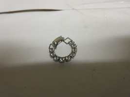 Costume Jewelry , Ladies Ring , Silver Belt Ring / Stones , Vintage , UN... - $34.65