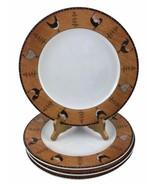 """Sakura Country Quartet Rooster 8 11"""" Dinner Plates Warren Kimble Brandon House - $74.80"""