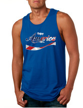 Men's Tank Top Enjoy America 4th Of July Top Love USA - $13.94+