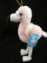 Vintage Russ Berrie Pink Flamingo Plush Laverne Bird Tags Eye Lashes No.... - $17.77