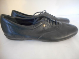 Easy Spirit Motion navy blue leather oxfords flats walking shoes Size 7.5 4 A  - $33.57 CAD