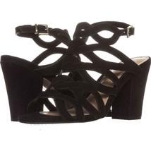 Vince Camuto Norla Strappy Slingback Sandals 068, Black, 6 US / 36 EU - $25.91
