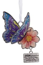 Gnz Inspirational Butterfly Wishes Zinc Ornament -Mom - $8.86