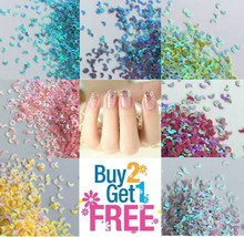 MOON Shape Glitter Multi Colors Nail Holographic Glitter Art Acrylic Gel - $0.99+