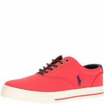Polo Ralph Lauren Mens Vaughn Canvas Low Top Sneakers Red 14 D MSRP 65 New - $47.91
