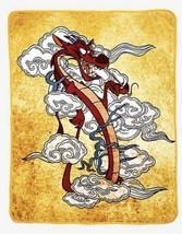 "Disney Mulan Mushu Smoke Plush Soft Silk Touch Throw Blanket 48"" X 60"" - £26.20 GBP"
