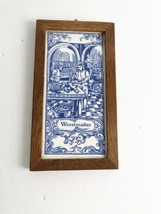 Mosa Delft Blue Worstmaker Tile Ceramic Framed Rectangle Sausage Maker H... - €39,84 EUR