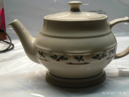 Vintage Holiday Ceramic Creamer Pitcher with raised designs, white - $26.88