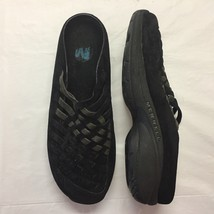 Women's MERRELL Black Suede Mules Primo Weave Midnight  Size 9.5 M - $36.38