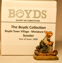 Boyds Town Village - Scooter - Miniature Figure - $8.73