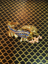 Beautiful vintage fish nautical brooch - $6.00