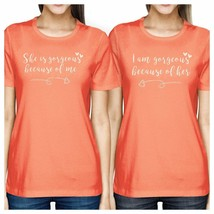 She Is Gorgeous Peach Womens Matching Tee Best Mothers Day Gifts - $41.17