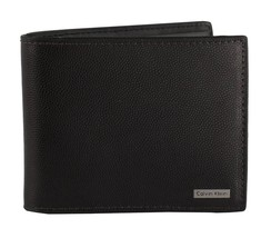 Calvin Klein CK Men's Leather Bifold ID Wallet Key Chain Set Brown 79549