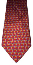 Robert Talbott Colorful Red Orange Hand Sewn 100% Silk Tie Mens Necktie ... - €25,21 EUR
