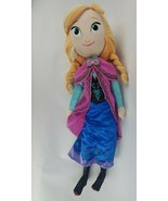 "Disney Frozen Anna 26"" Plush Soft Doll Pigtails Dress Stuffed Animal Toy - $21.76"