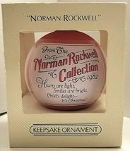 1982 Norman Rockwell Hallmark Keepsake Satin Ornament #QX202-3 NIB - $6.93