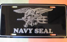 License Plate Black Color Navy Seals - $7.90