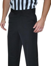 SMITTY | BKS-277 | Black Polyester Flat Front Official's Pants Slash Poc... - $59.99